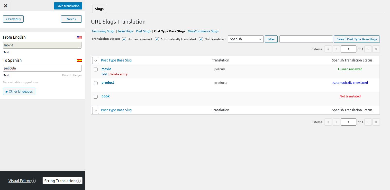 Translate URL Slugs in TranslatePress