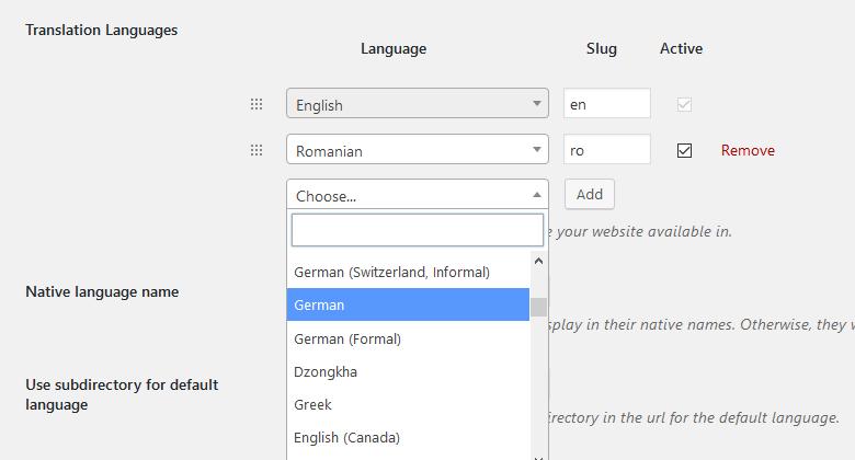 Extra Languages - TranslatePress