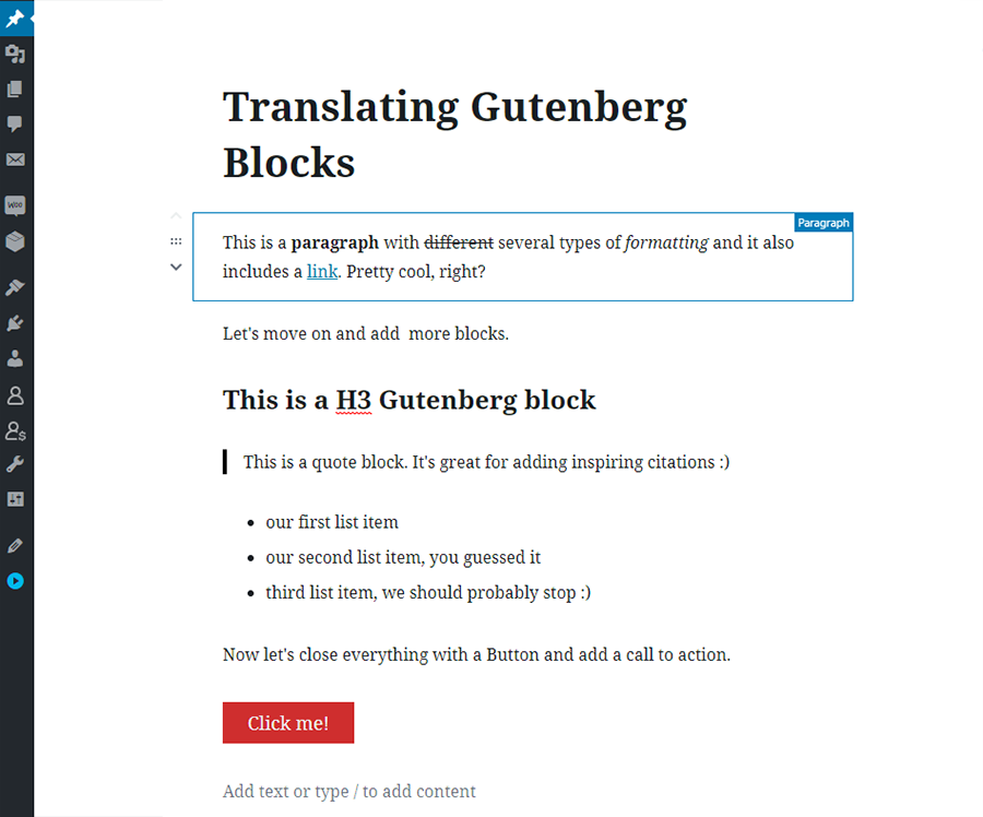 Adding Gutenberg Blocks WordPress