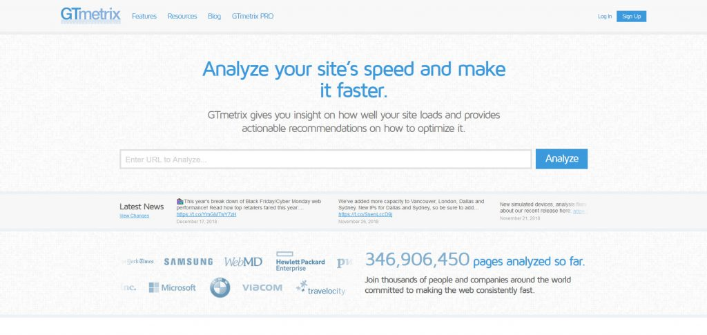 gtmetrix helps you measure multilingual site speed