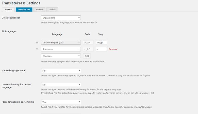 TranslatePress-settings