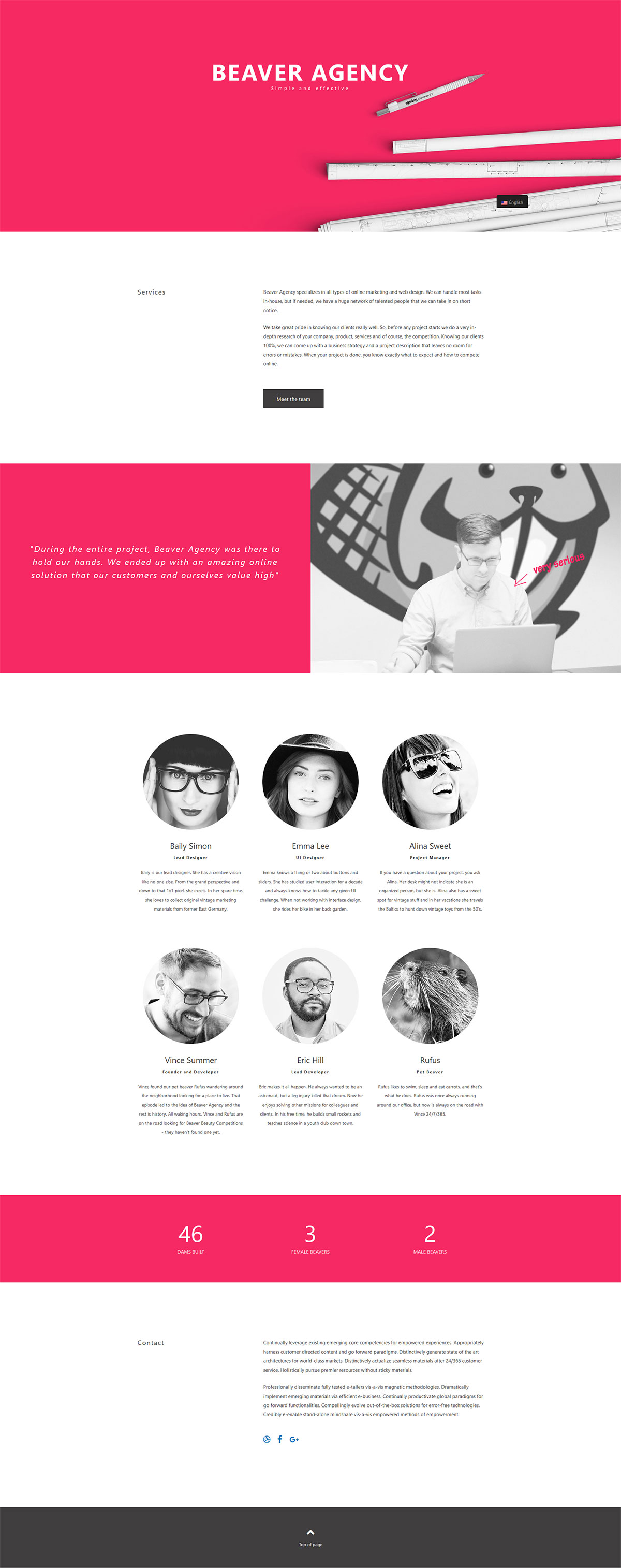 Beaver Builder Agency Templates