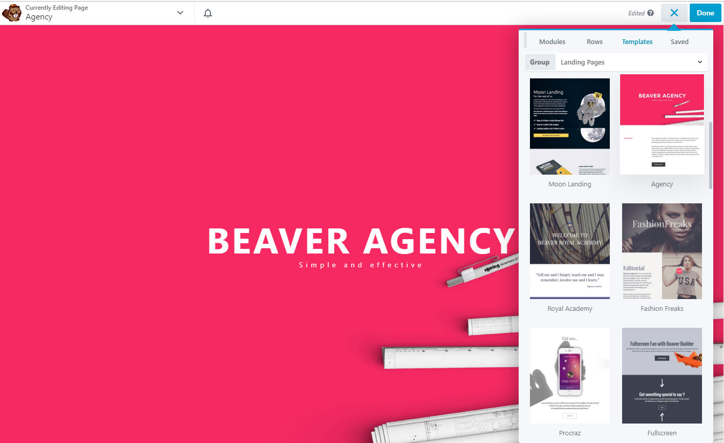 Beaver Builder Add New Template
