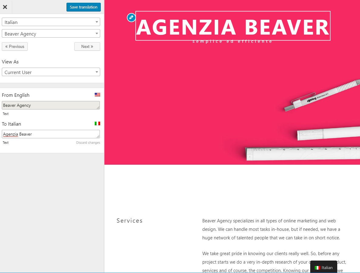 Translate Beaver Builder sites