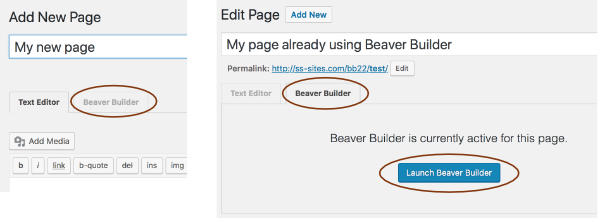 Edit page using Beaver Builder