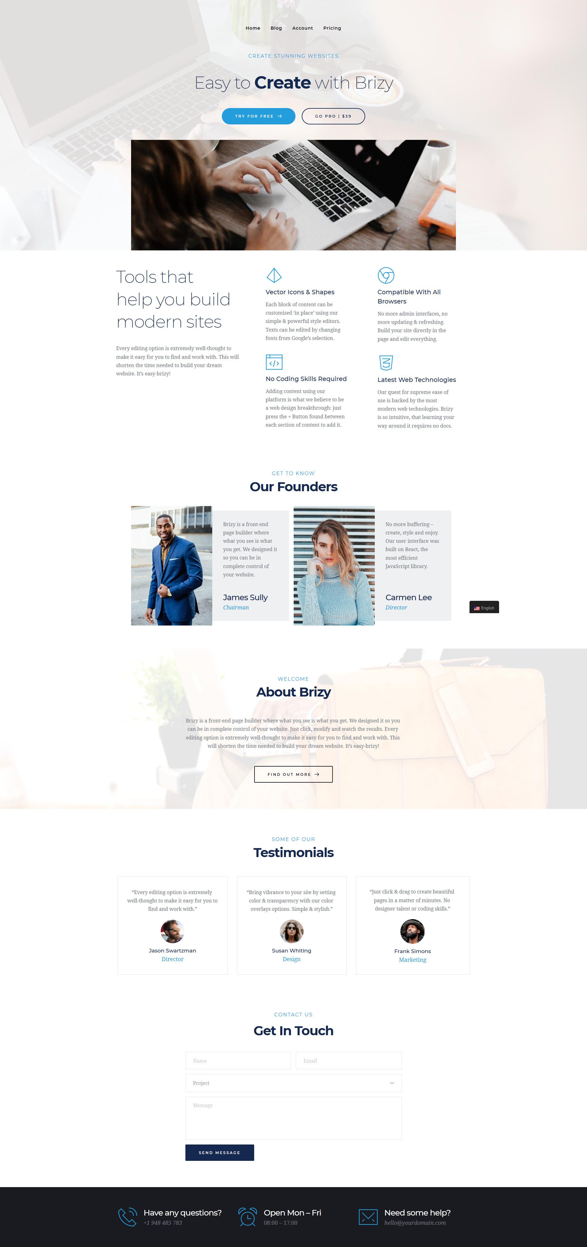 Translate Brizy Page Builder sites using TranslatePress