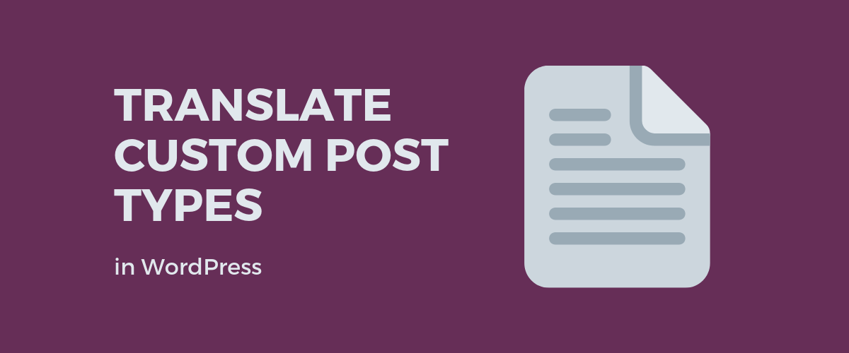 Translate Custom Post Types in WordPress featured