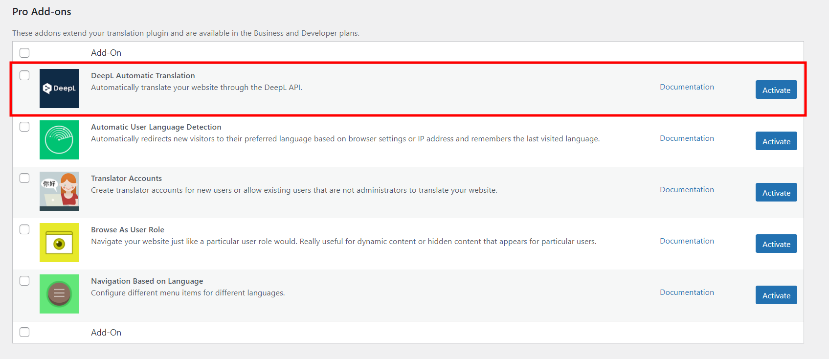 DeepL Automatic Translation Add-on