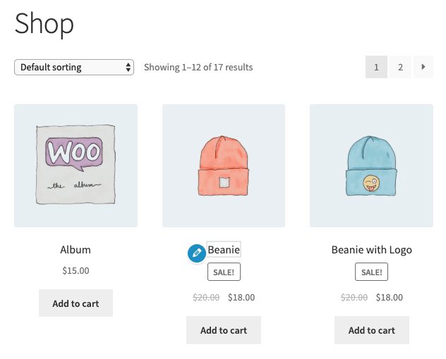 Pencil icon for translating WooCommerce product details
