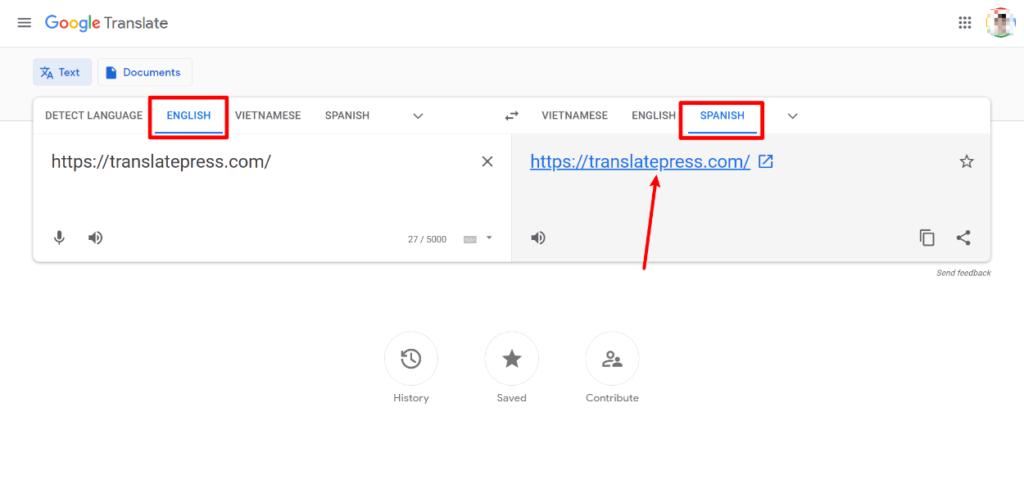 Automatically translate website using Google Translate