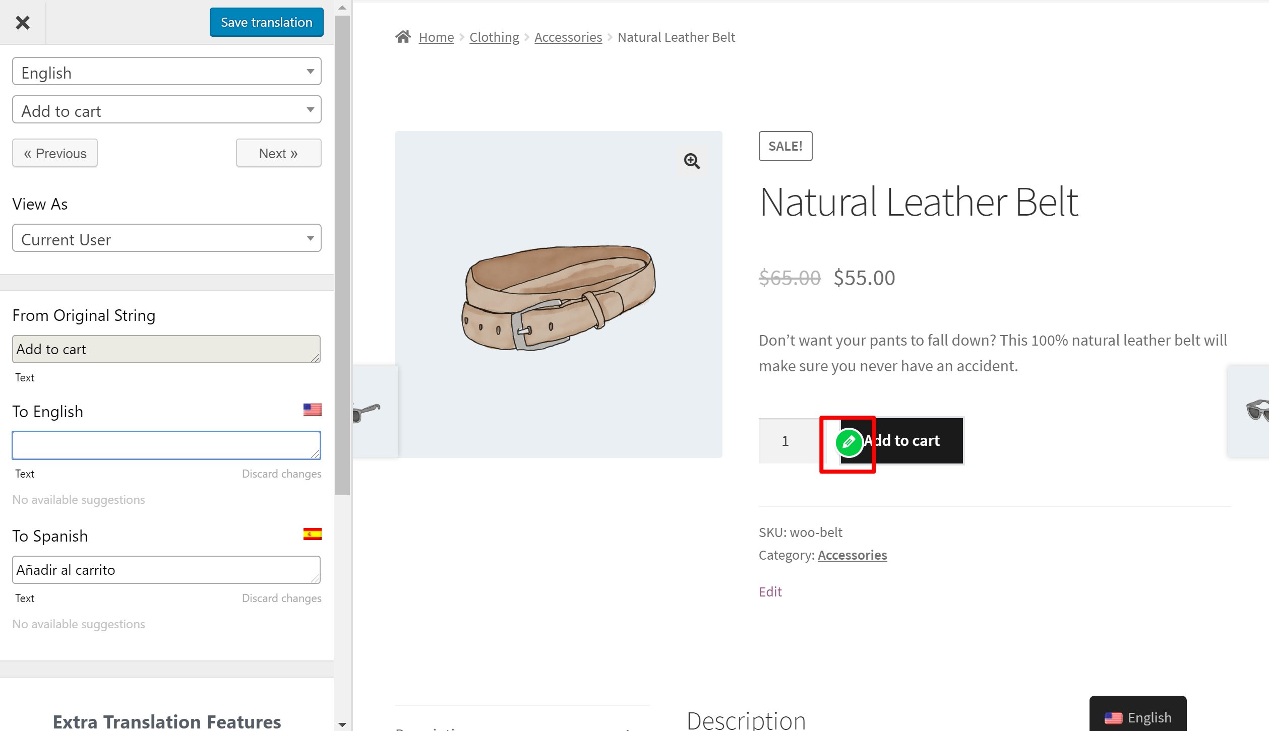 Editing the add to cart button in WooCommerce