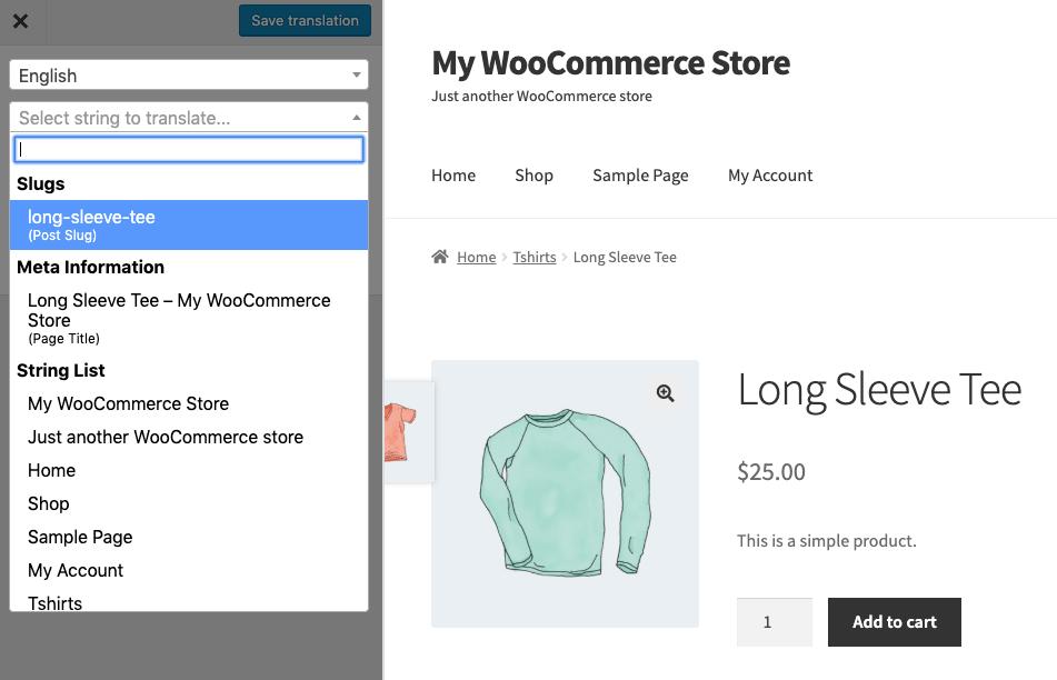 Translating URL slugs for Multilingual WooCommerce Store