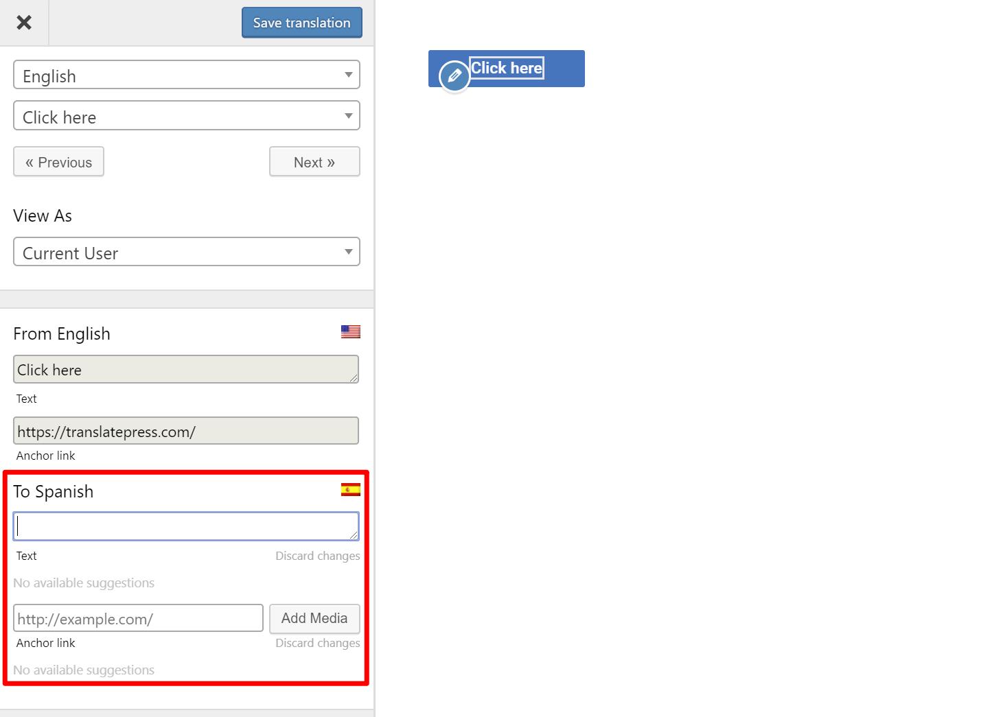 translate URL
