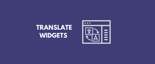 Translate Widgets in WordPress tutorial