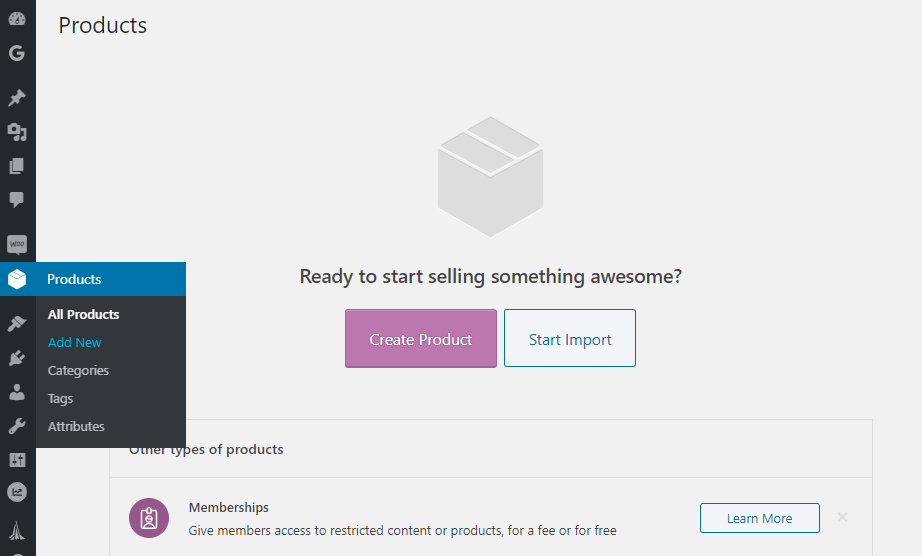 Adding new products to WooCommerce.
