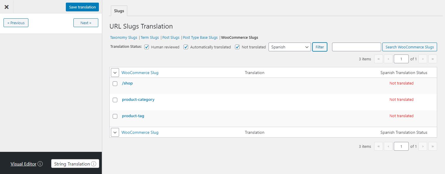 URL Slug Translation in TranslatePress