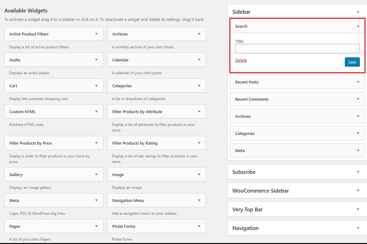 Multilingual WordPress search form widget