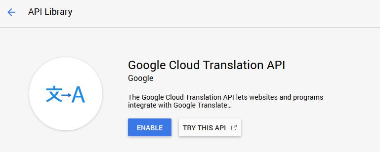 Accessing the Google Cloud translation API.