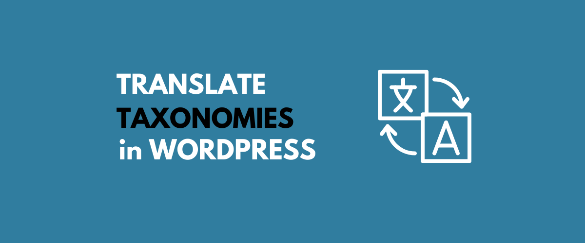 Translate Taxonomies in Wordpress
