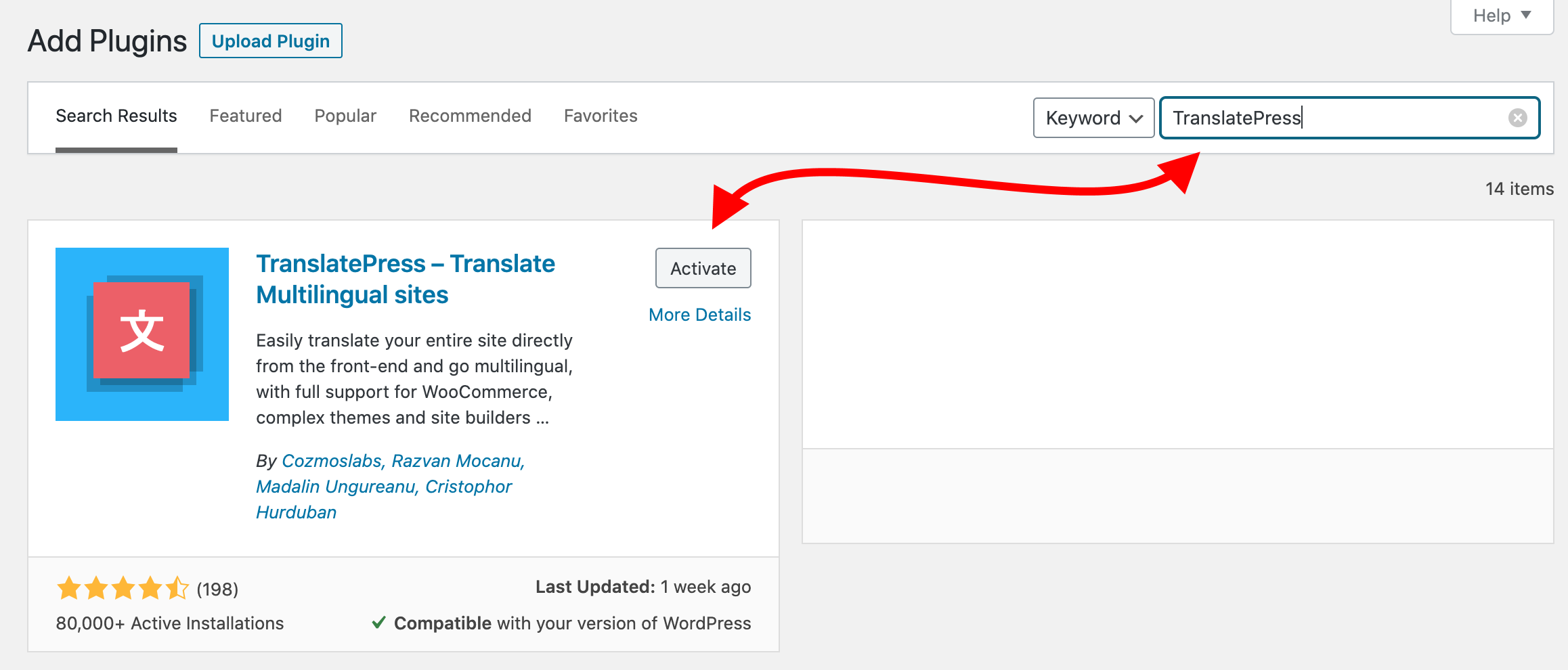 best way to translate a website: install TranslatePress