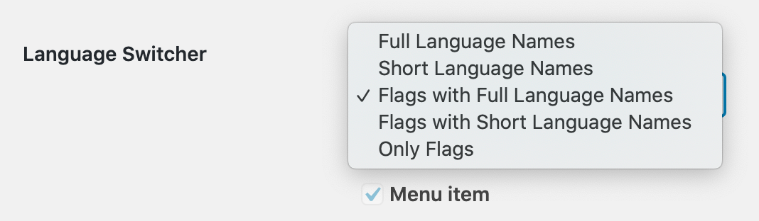 language switcher design