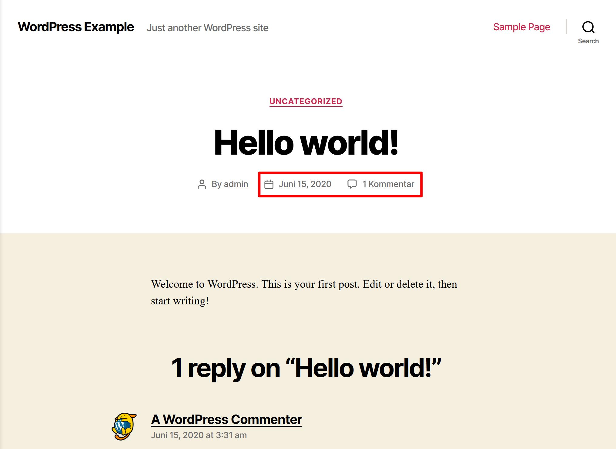 Change WordPress site language