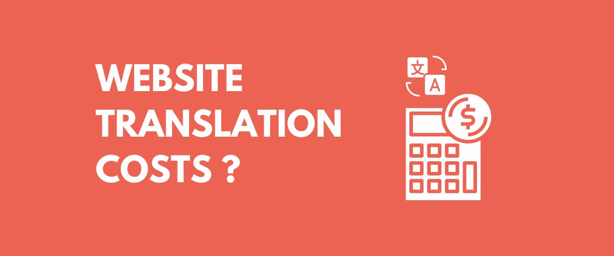 Website Translation Costs