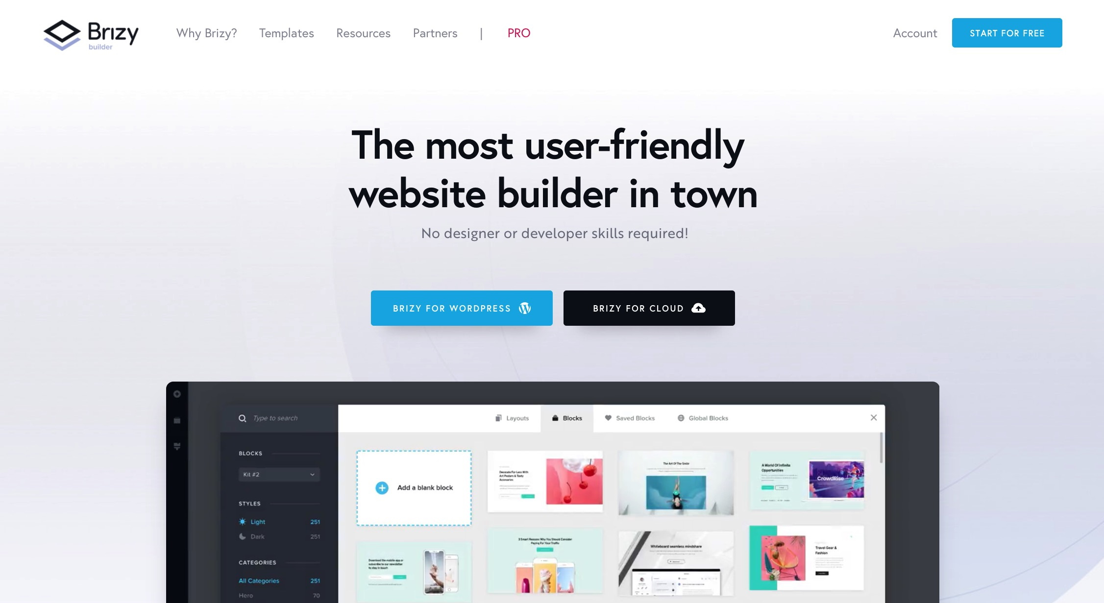 Brizy - one of the best WordPress page builders for multilingual sites