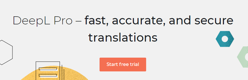 The DeepL Translator homepage.