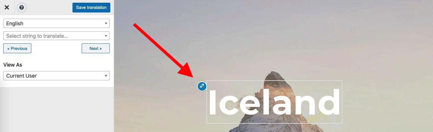 Visual Composer pencil icon