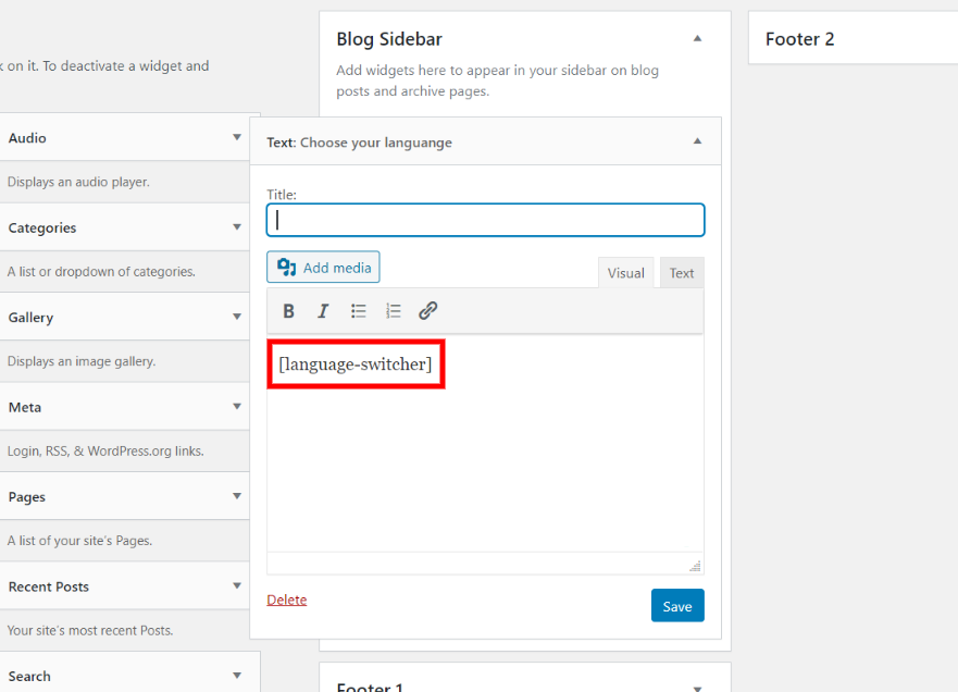 Sidebar language switcher for your Bilingual website