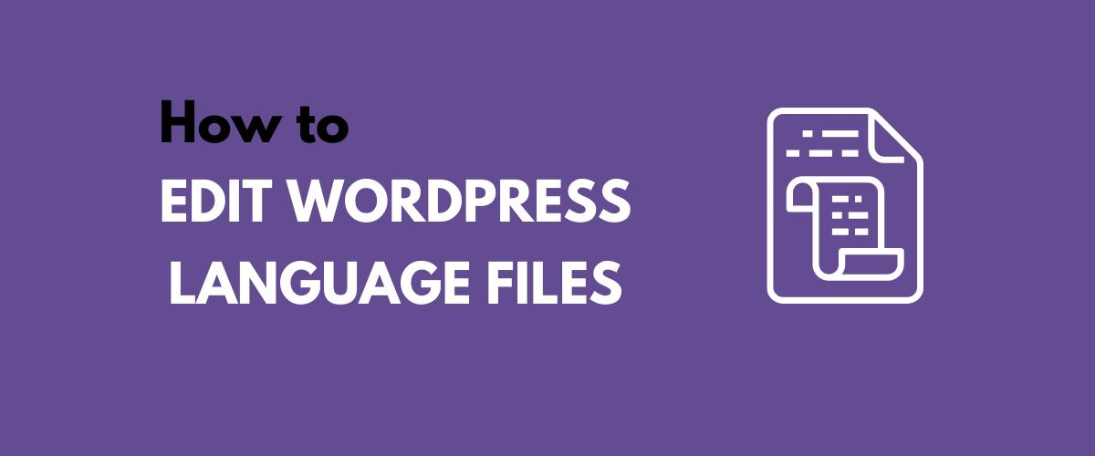 WordPress Language Files tutorial
