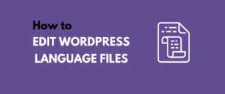 WordPress Language Files tutorial
