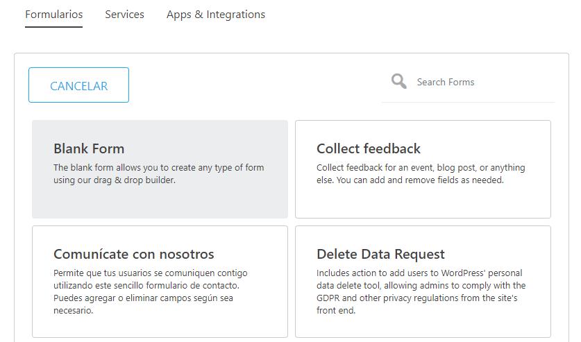 A plugin's settings in Spanish.