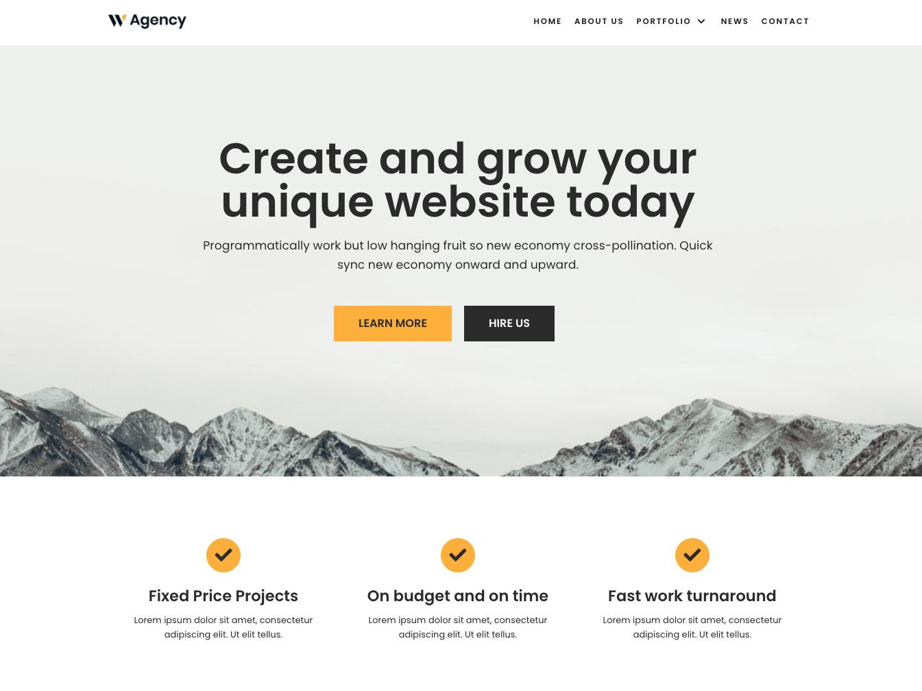 Neve homepage
