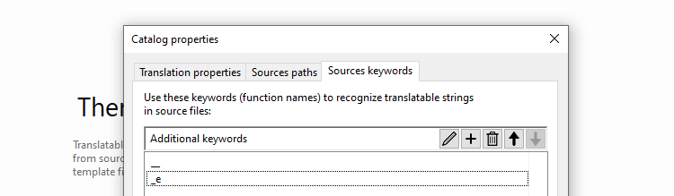 Selecting which keywords to look for within your WordPress files.