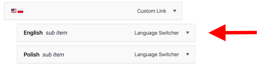 TranslatePress lang switcher drop down