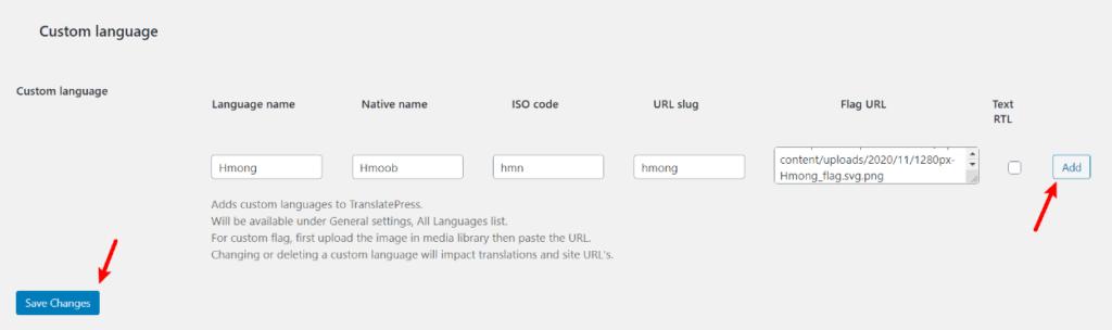 How to add a WordPress custom language