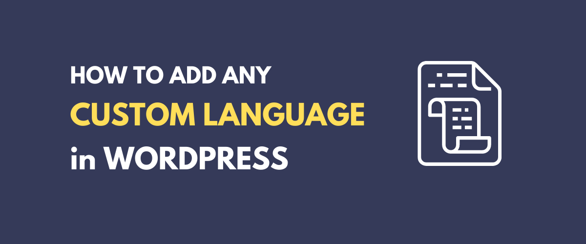 WordPress Custom Language tutorial