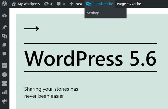 Accessing the TranslatePress translator