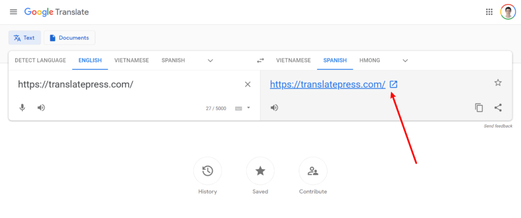 How to translate a website online with Google Translate