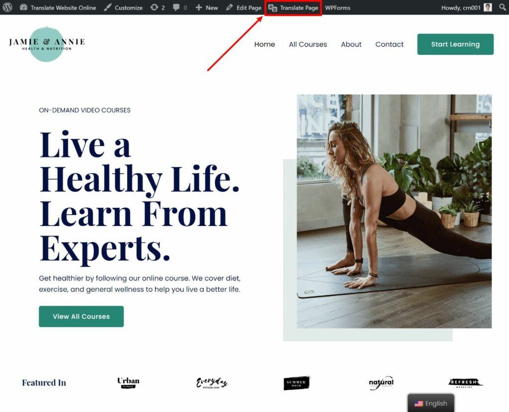 Open visual editor